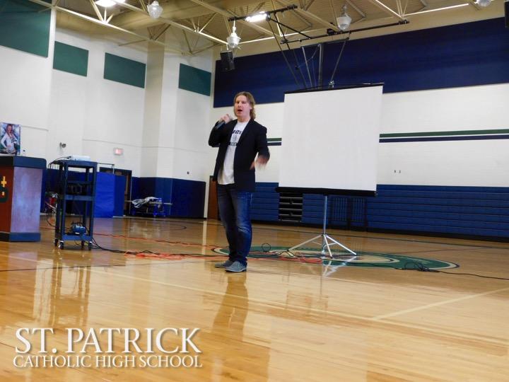 Brian Boyle Visits St. Patrick