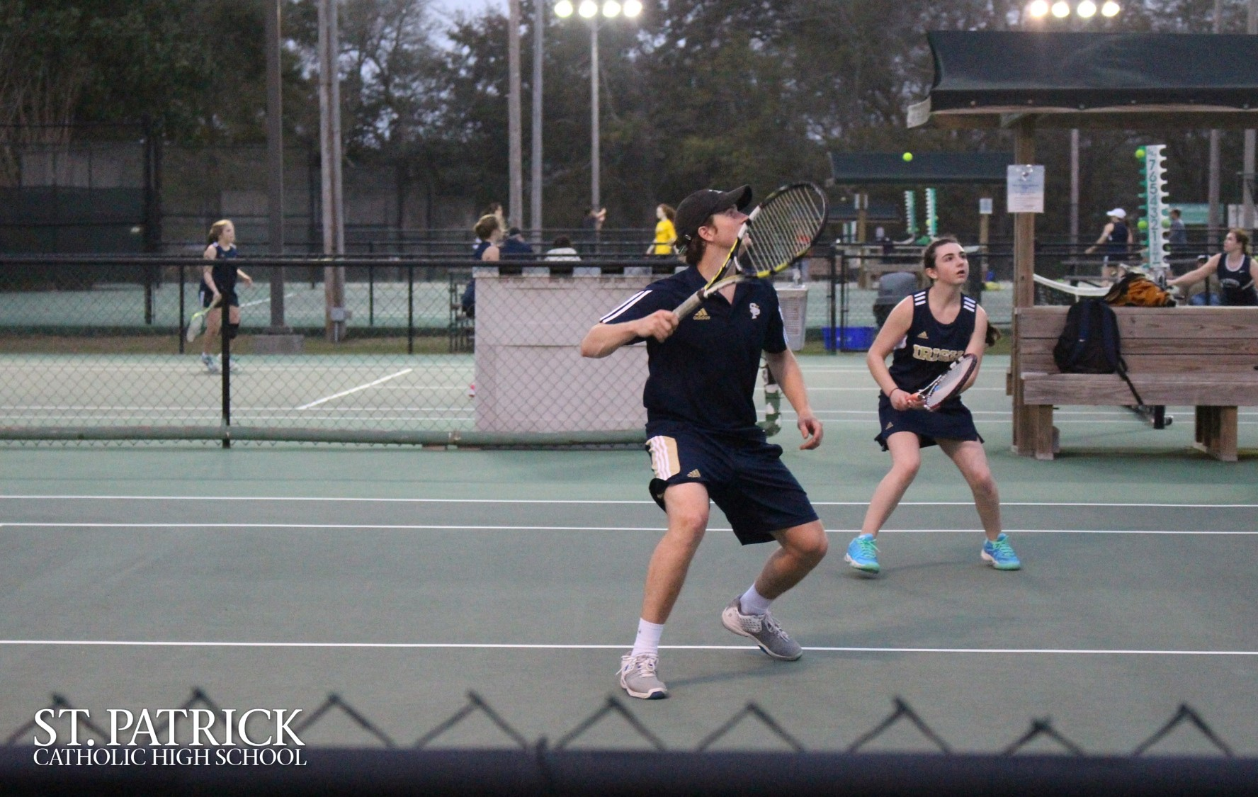Tennis match against Gautier High
