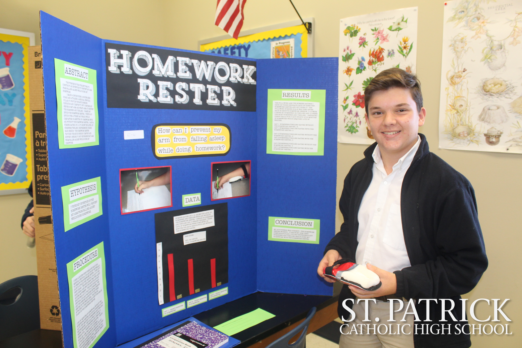Seventh graders present projects at Invention Fair
