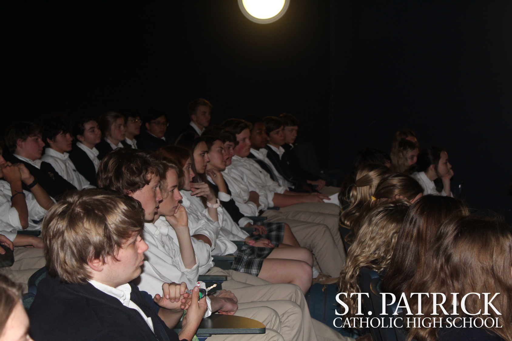Tenth grade attends Asia presentation by Father Dominic