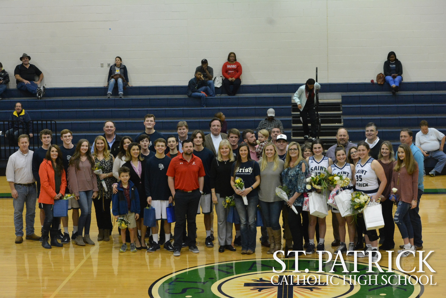 Basketball celebrates senior night and plays Lumberton