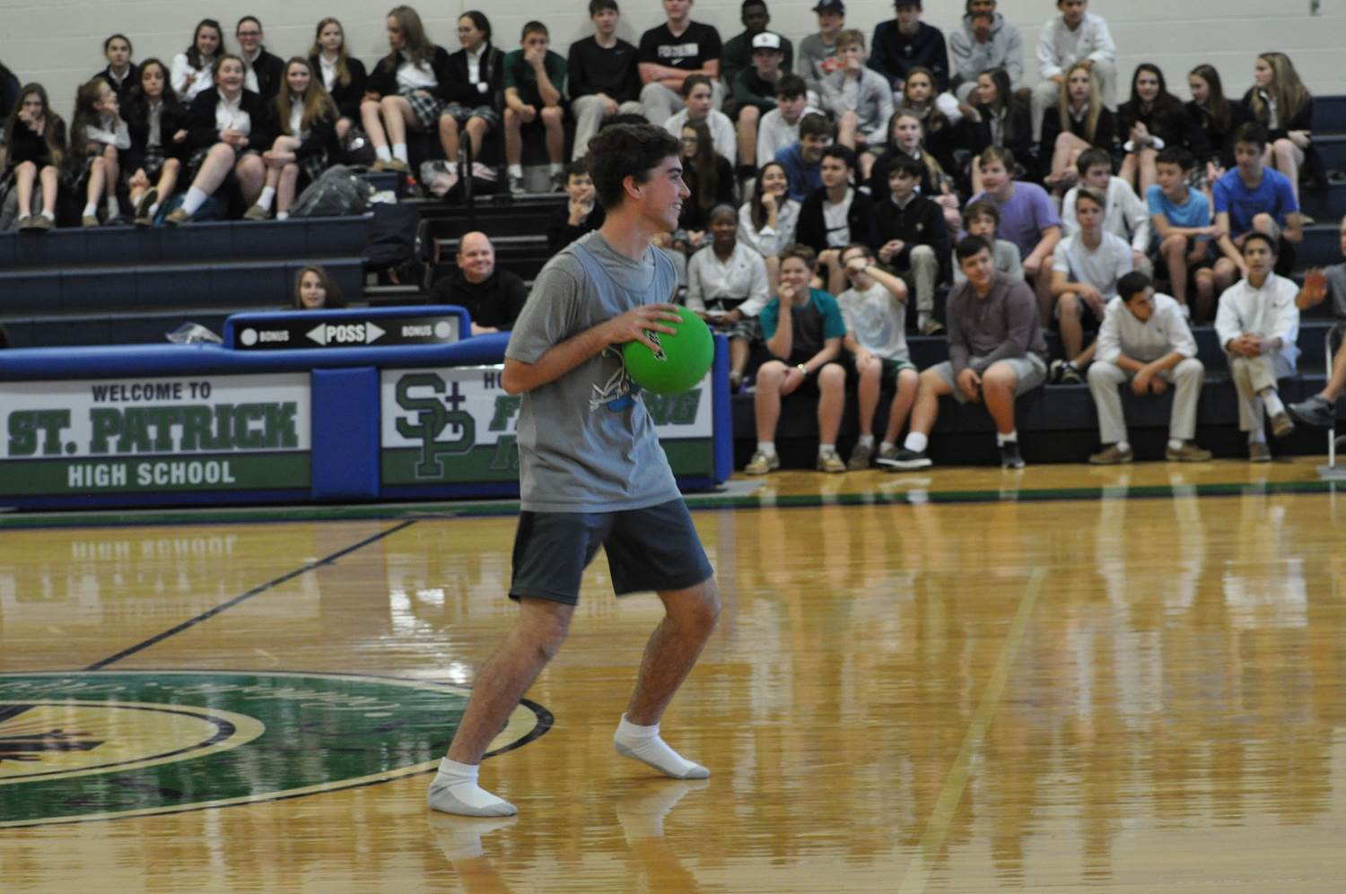 Teachers and students face off in afternoon dodgeball tournament