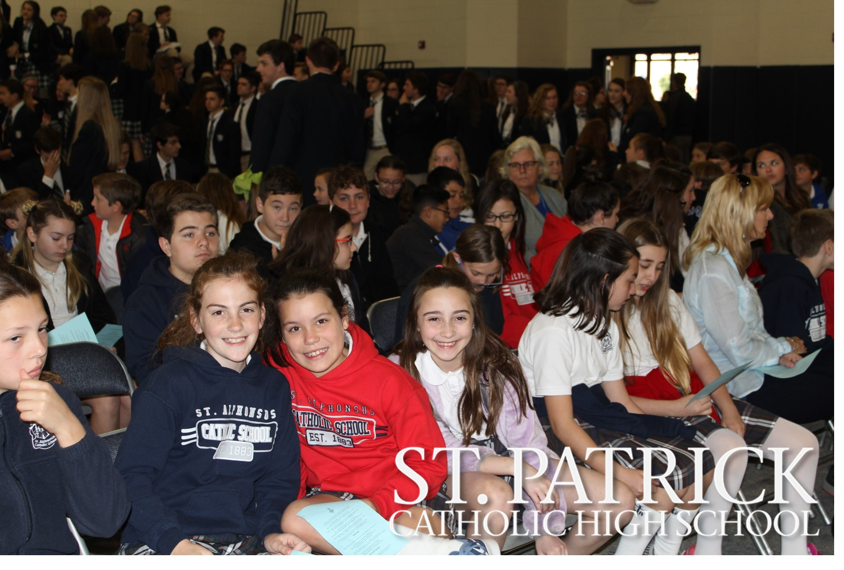 Partner elementary schools visit St. Patrick on Thursday