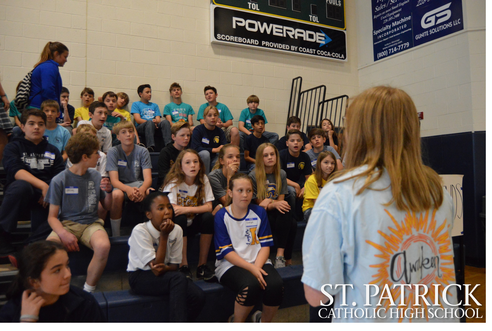 Sixth graders attend retreat at St. Patrick