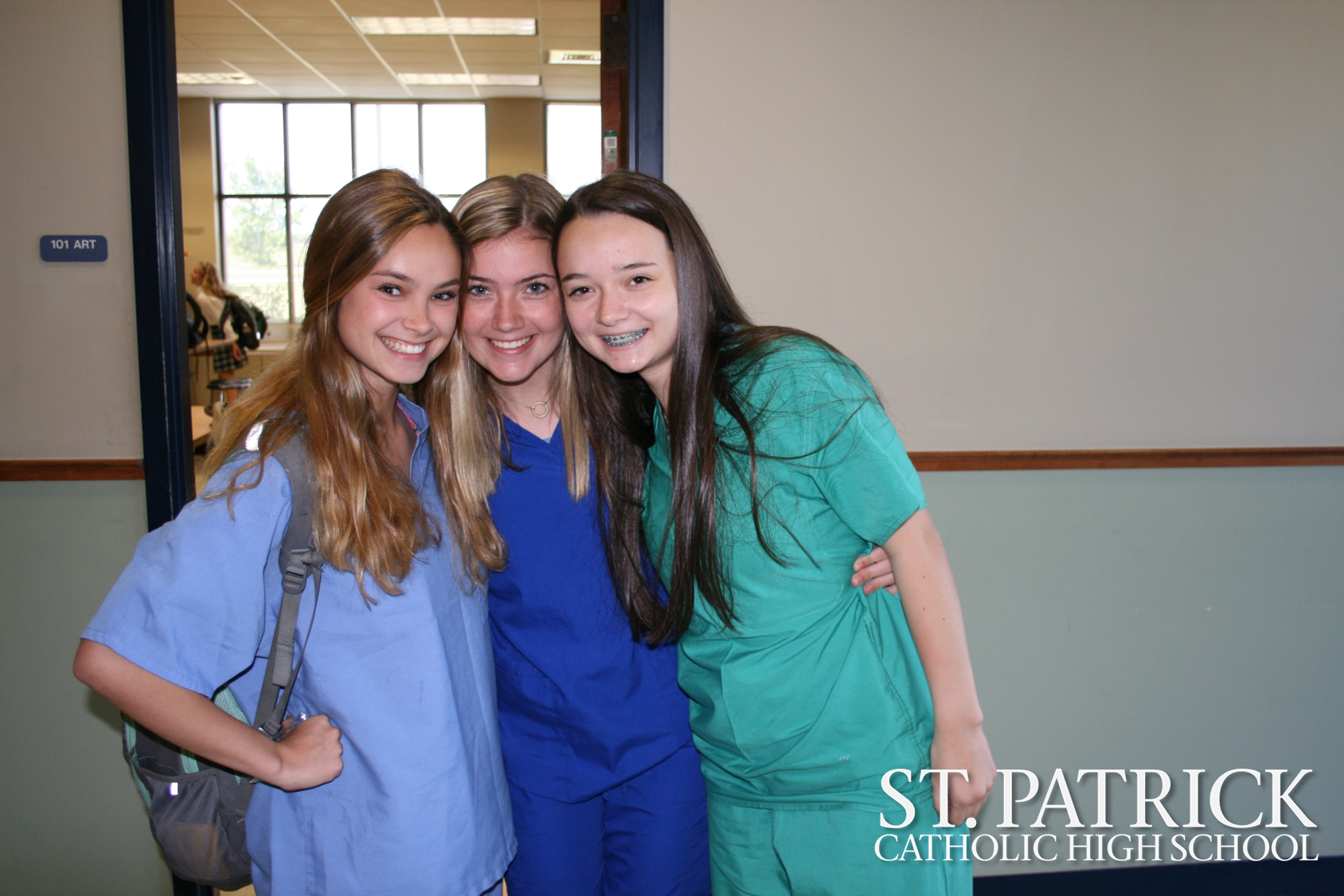 Bio II students dress up for scrub day