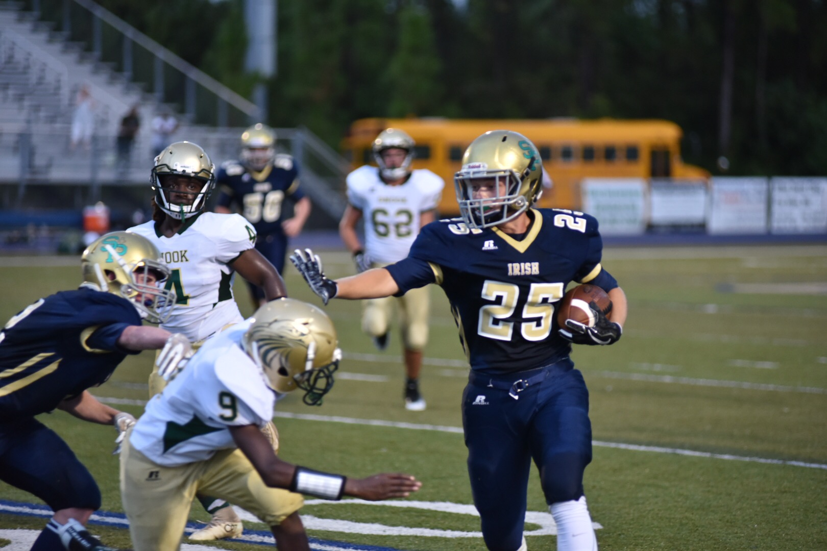Fighting Irish Football Team shuts out Snook Academy 40-0 in first home game of 2018 season
