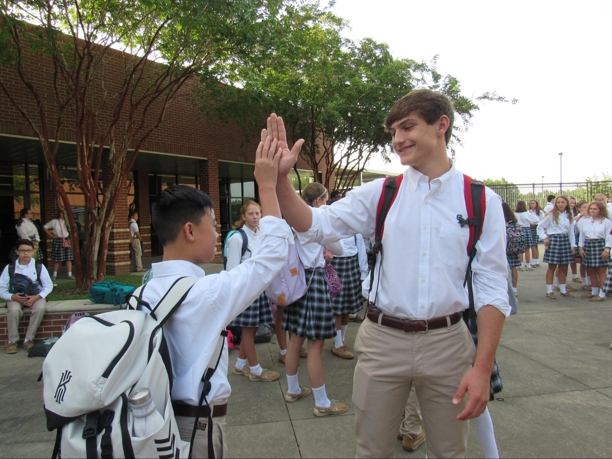 Big Buddies breakfast held to welcome new seventh graders