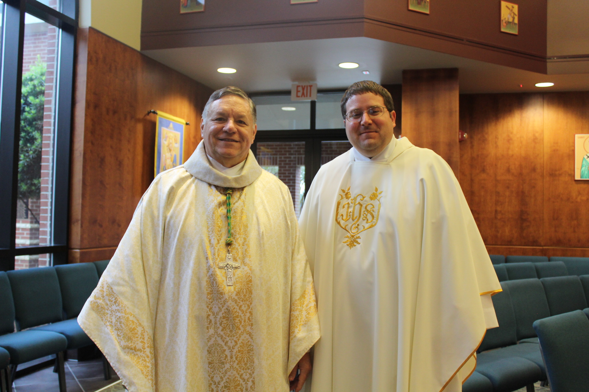 Most Reverend Bishop Kihneman celebrates Mass at St. Patrick Catholic High School
