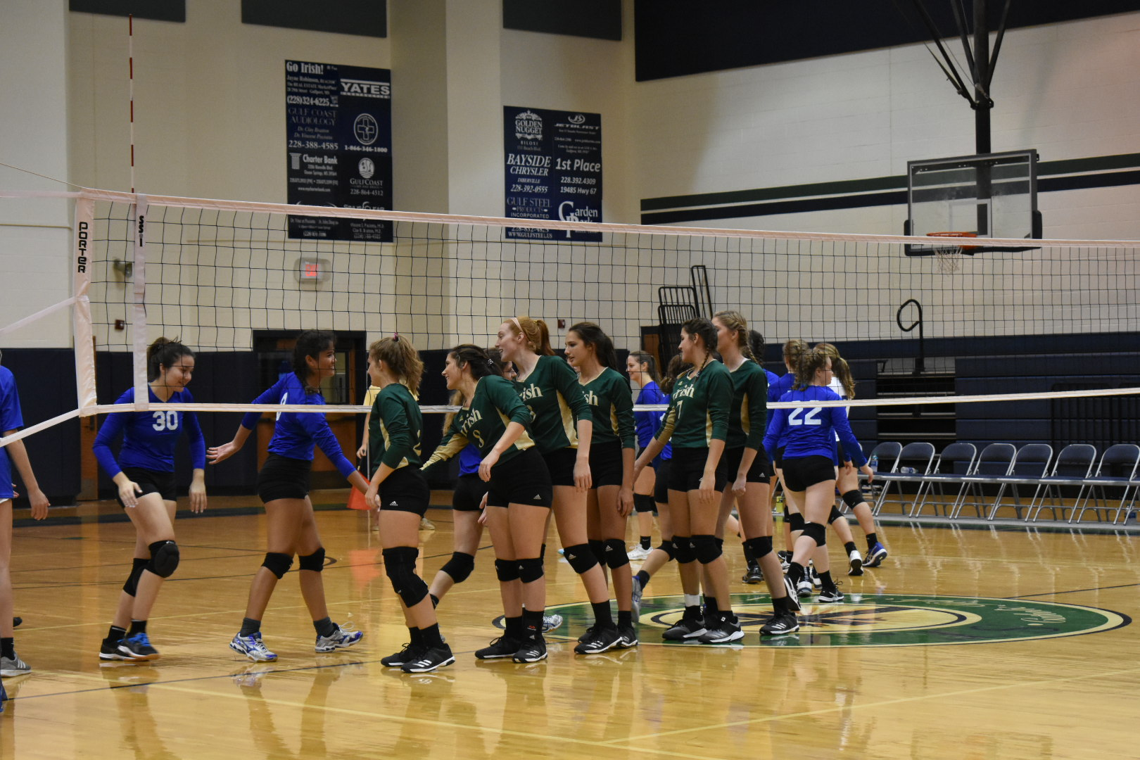 Lady Irish Volleyball Team defeats Sacred Heart Crusaders