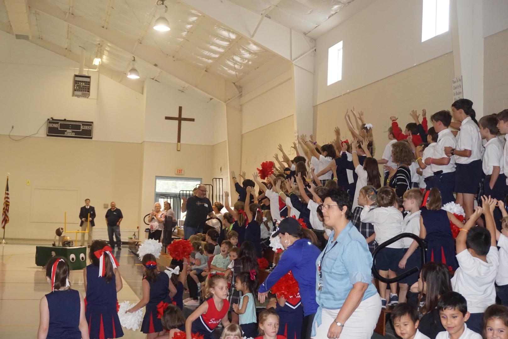 St. Alphonsus invites Fighting Irish students to participate in Night of Neon Pep Rally