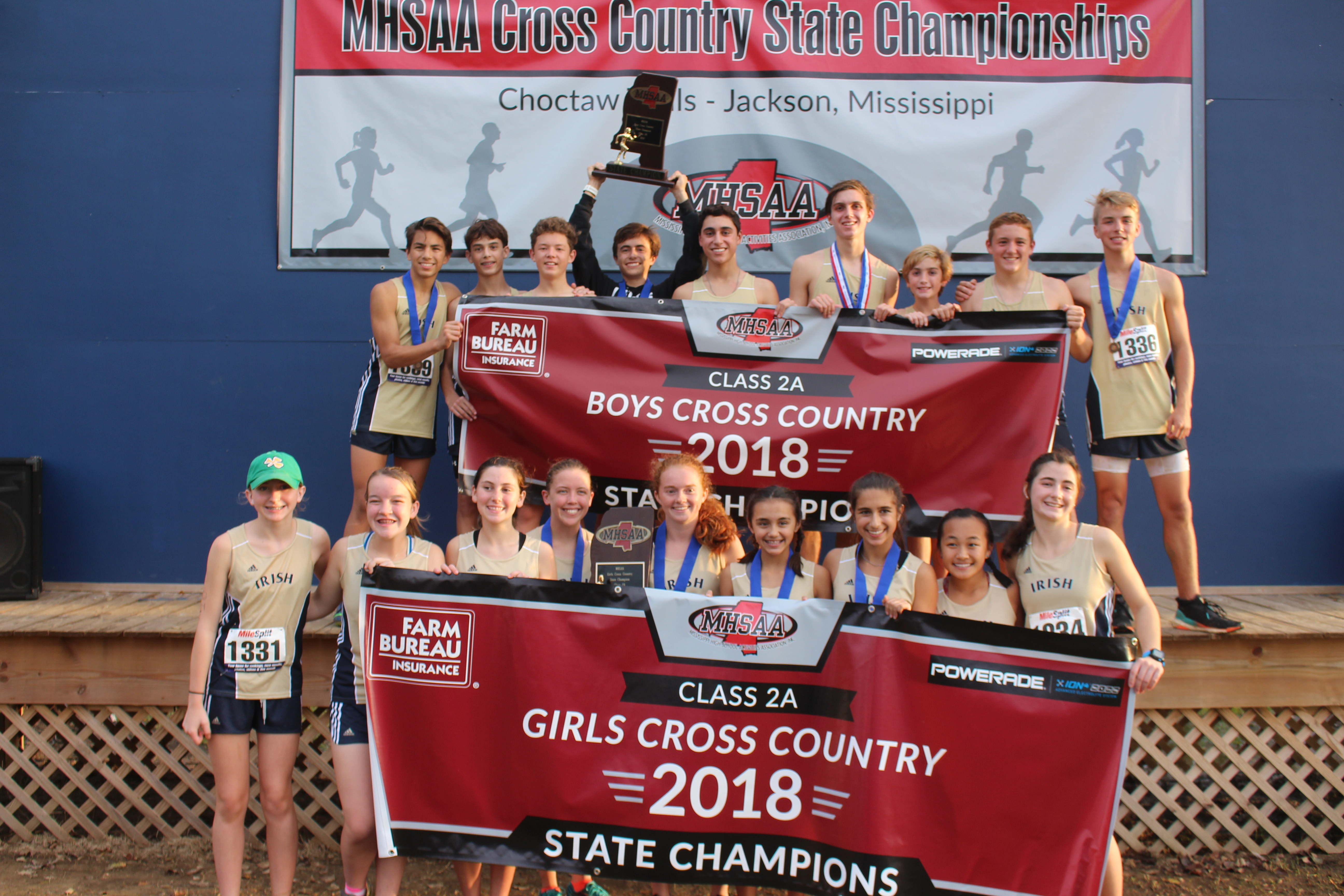 Both St. Patrick Cross Country teams secure 2018 MHSAA state titles