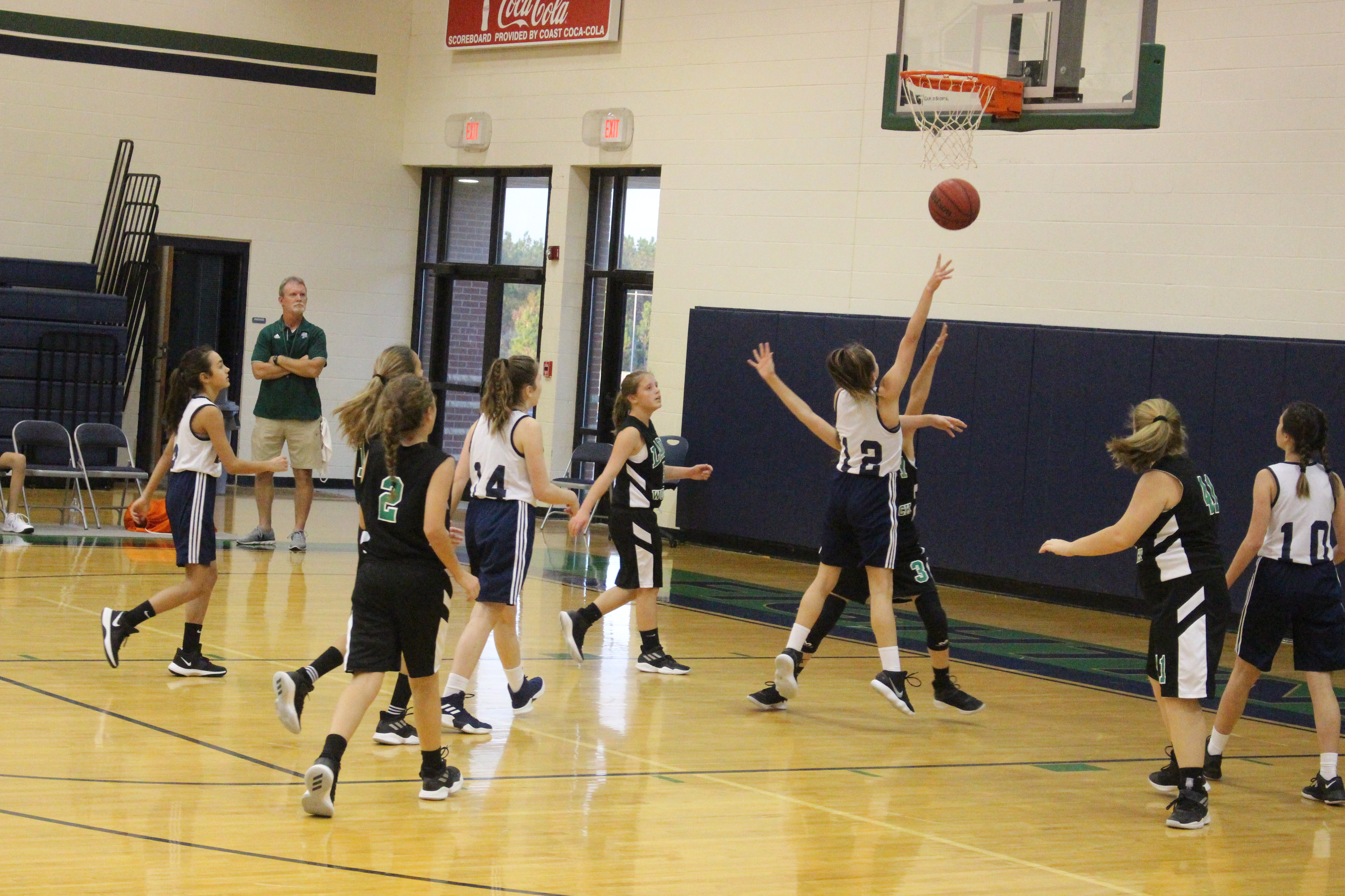 Seventh and eighth grade basketball teams face West Wortham