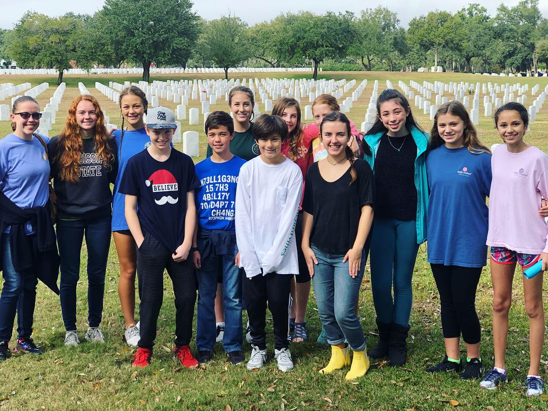 Interact Club participates in Laying of the Wreaths at Biloxi National Cemetery