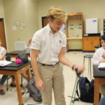 Anatomy & Physiology students compare isometric and isotonic
